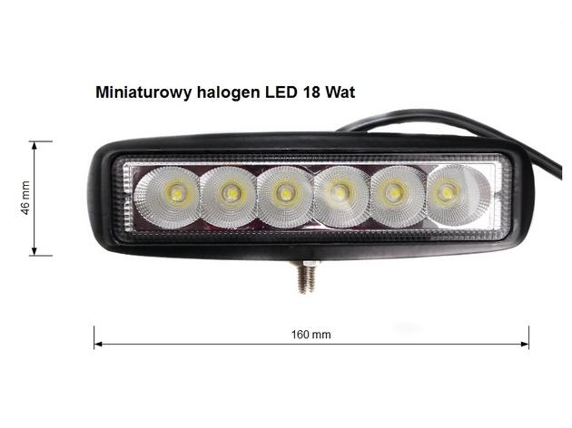 Lampa Robocza Panel LED 18 Wat OFF ROAD diodowa 12V 24 V